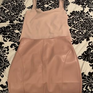 Express Faux leather skirt and body suit